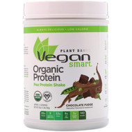 VeganSmart, Organic Pea Protein Shake, Chocolate Fudge, 20 oz (560 g)