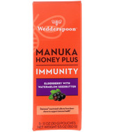 Wedderspoon, Manuka Honey Plus, Immunity, Elderberry with Watermelon Seedbutter, 5 Pouches, 1.1 oz (30 g) Each