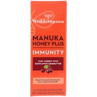 Wedderspoon, Manuka Honey Plus, Immunity, Tart Cherry with Sunflower Seedbutter, 5 Pouches, 1.1 oz (30 g) Each