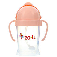 Zoli, Bot, Straw Sippy Cup, Blush, 6 oz
