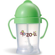 Zoli, Bot, Straw Sippy Cup, Green, 6 oz