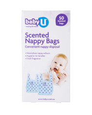 3 PACK OF babyU Nappy Bags 50 Pack