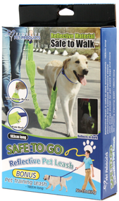 3 PACK OF Safe To Go Reflective Dog Leash 183cm