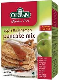 3 PACK OF Orgran Gluten Free Apple & Cinnamon Pancake Mix