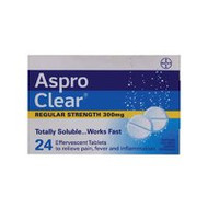 3 PACK OF Aspro Clear Tablet 24