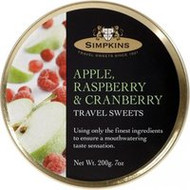 3 PACK OF Simpkins Travel Drops Apple Raspberry & Cranberry 200G