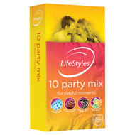 3 PACK OF LifeStyles Party Mix Condoms 10 Pack