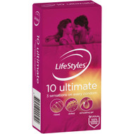 3 PACK OF Lifestyles Ultimate Condoms 10 pack