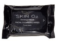 3 PACK OF Skin O2 Facial Cleansing Wipes 20 Pack
