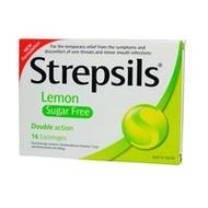 3 PACK OF Strepsils Lozenges Lemon Sugar Free 16