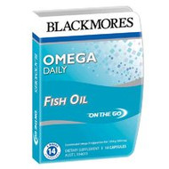 3 PACK OF Blackmores Omega Daily Fish Oil On The Go Tablets 14