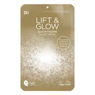 3 PACK OF Designer Brands Lift & Glow Glutathione Deluxe Sheet Mask 1 Pack