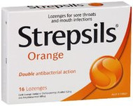 3 PACK OF Strepsils Lozenges Orange 16
