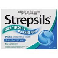 3 PACK OF Strepsils Lozenges Sore Throat & Blocked Nose 16