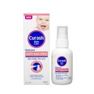 3 PACK OF Curash Baby Care Nappy Rash Spray 50ml