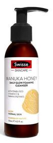3 PACK OF Swisse Skin Care Manuka Honey Daily Glow Foaming Cleanser 120ml