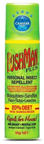 3 PACK OF Bushman Plus Insect Repellant Sunscreen Aerosol 50g