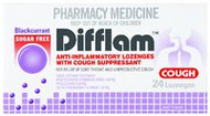 3 PACK OF Difflam Lozenges Blackcurrant Sugarfree 24