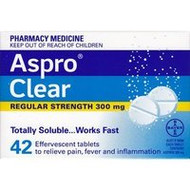3 PACK OF Aspro Clear Tablets 42