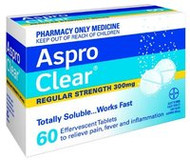 3 PACK OF Aspro Clear Tablets 60