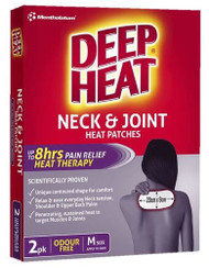 3 PACK OF Deep Heat Neck & Joint Patches 2 Pack