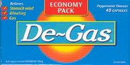 3 PACK OF De-Gas 100Mg Capsules 48