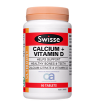 3 PACK OF Swisse Ultiboost Calcium + Vitamin D 90 Tablets