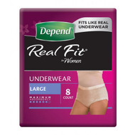 3 PACK OF Depend Realfit Underwear For Women Large 8 Pack