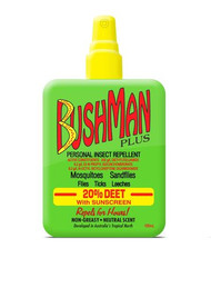 3 PACK OF Bushman Plus Insect Repellant Sunscreen Pump Spray 100ml