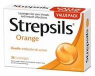 3 PACK OF Strepsils Lozenges Orange 36
