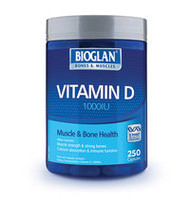 3 PACK OF Bioglan Vitamin D 1000IU Capsules 250