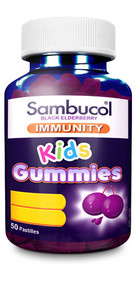 3 PACK OF Sambucol Immunity Gummies