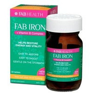 3 PACK OF Fab Iron + Vitamin B Complex Tablets 30