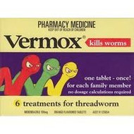3 PACK OF Vermox 100mg Tablets 6