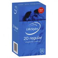 3 PACK OF LifeStyles Regular Condoms 20 Pack
