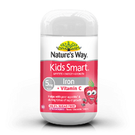 3 PACK OF Natures Way Kids Smart Iron Chewable Tablets 50 Tablets