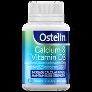3 PACK OF Ostelin Calcium & Vitamin D3 Capsules 60