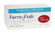3 PACK OF Ferro-F Tablets 60