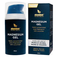 3 PACK OF Abundant Natural Health Magnesium Gel 80ml