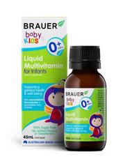 3 PACK OF Brauer Baby & Kids Liquid Multivitamin For Infants 45ml