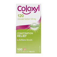 3 PACK OF Coloxyl 120mg 100 Tablets