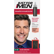 3 PACK OF Just For Men Shampoo-In Hair Colour Dark Brown