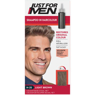 3 PACK OF Just For Men Shampoo-In Hair Colour Light Brown