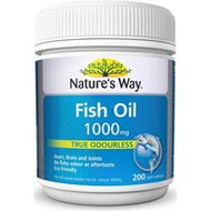 3 PACK OF Natures Way Fish Oil 1000Mg Capsules 200