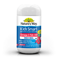 3 PACK OF Natures Way Kids Smart Omega 3 Fish Oil Strawberry 50 Capsules