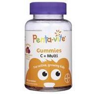 3 PACK OF Pentavite Gummies Vitamin C + Multivitamins 60
