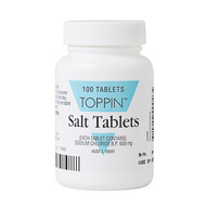 3 PACK OF Toppin Salt Tablets 600Mg 100
