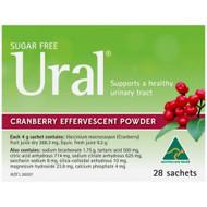 3 PACK OF Ural Effervescent Powder Cranberry 4g 28 Packs