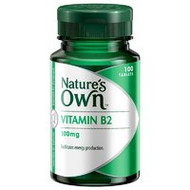 3 PACK OF Natures Own Vitamin B2 100mg Tablets 100