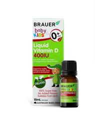 3 PACK OF Brauer Baby & Kids Liquid Vitamin D 400IU 200ml